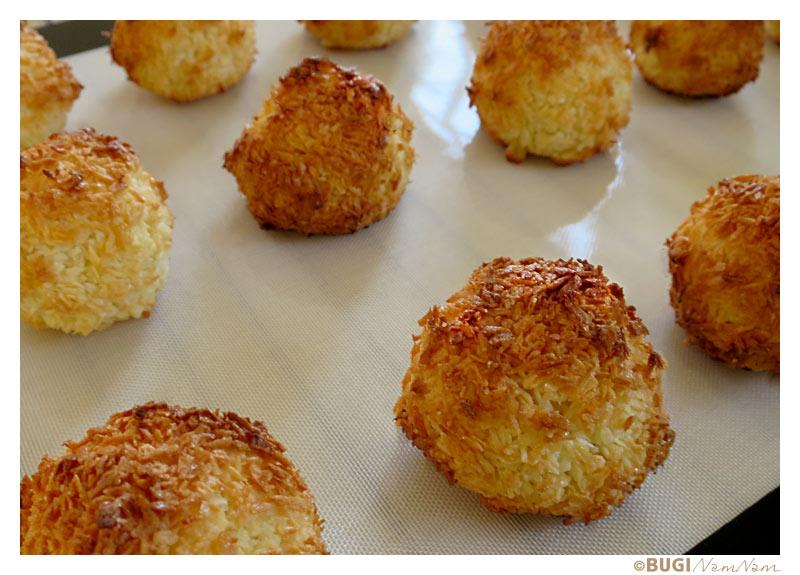 kokosmakroner før bagning