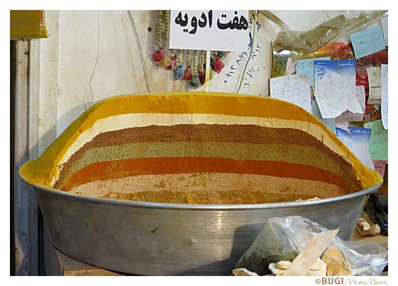 Kryderier i bazaren i Isfahan