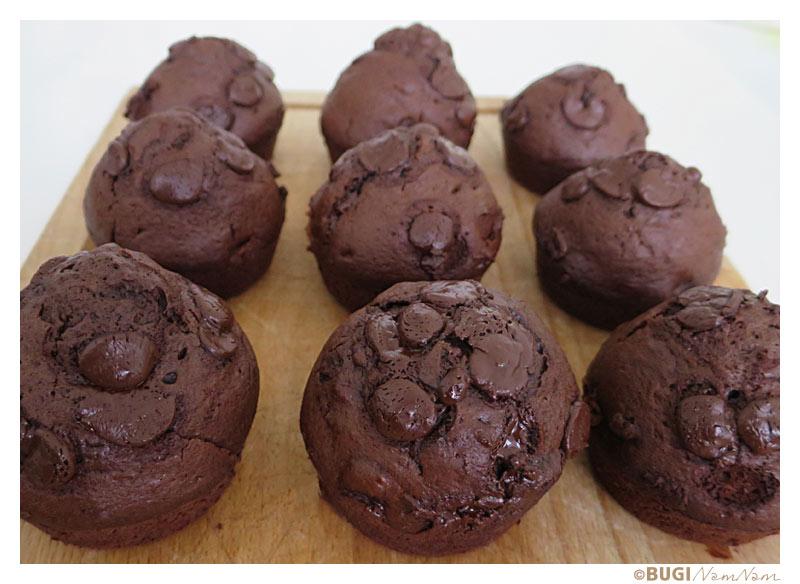 Dobbelte chokolade muffins
