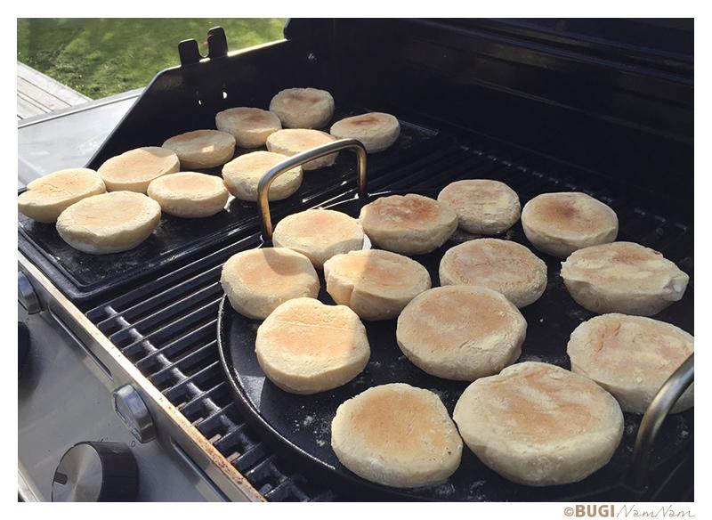 Opskrift på english muffins bag på grill
