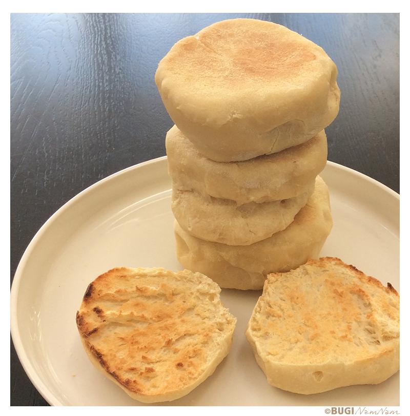 opskrift på English muffins