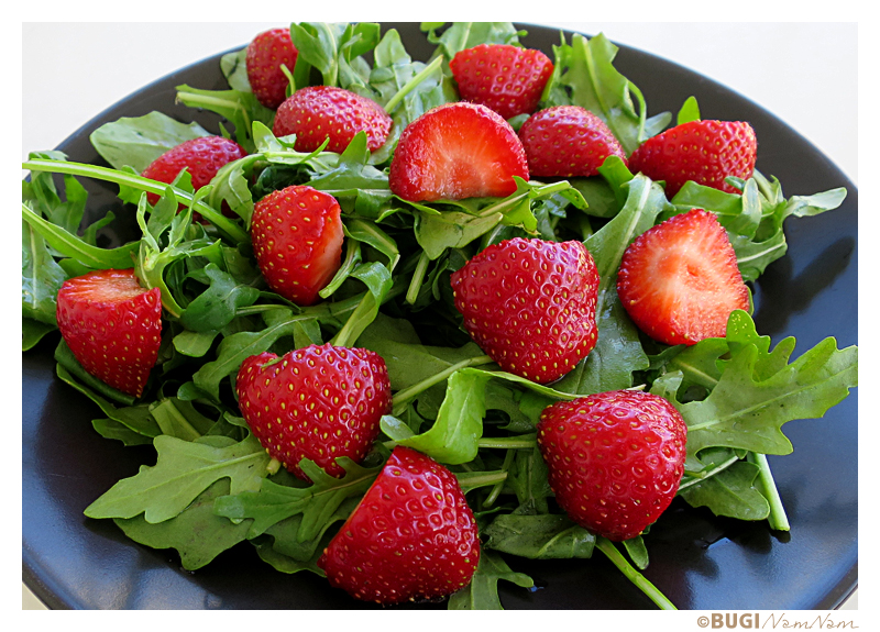 Rucola jordbær salat