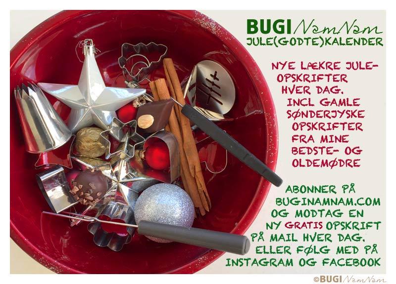 BUGInamnam jule-godte-kalender