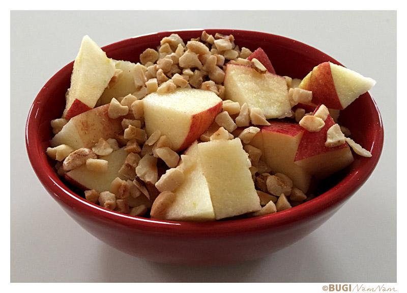 Æble og ristede nødder