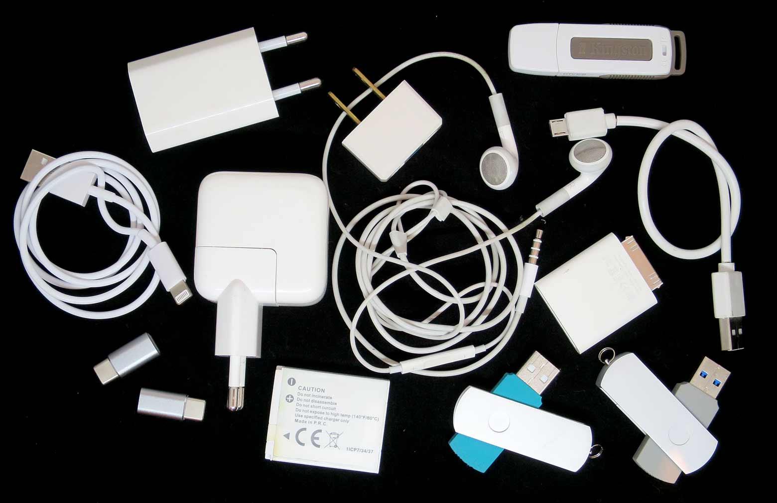 ledninger og opladere